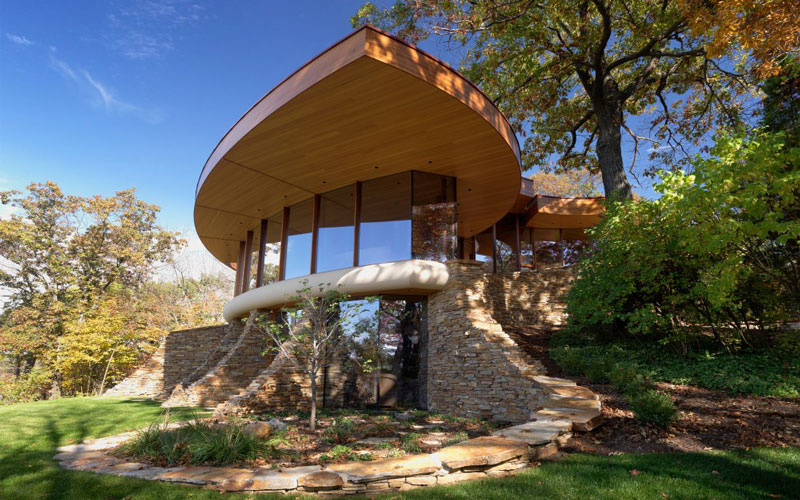 curvaceous chenequa residence by robert harvey oshatz 2 The Curvaceous Chenequa Residence by Robert Harvey Oshatz