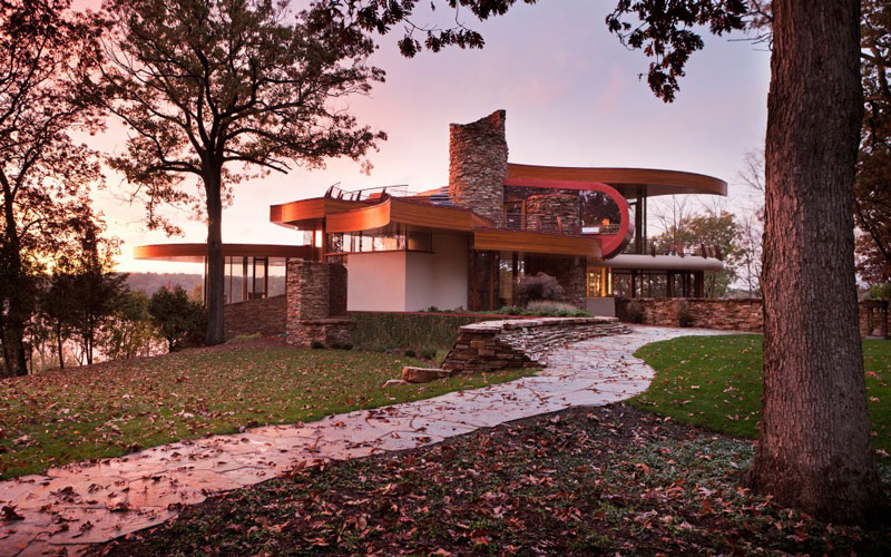 curvaceous chenequa residence by robert harvey oshatz 3 The Curvaceous Chenequa Residence by Robert Harvey Oshatz
