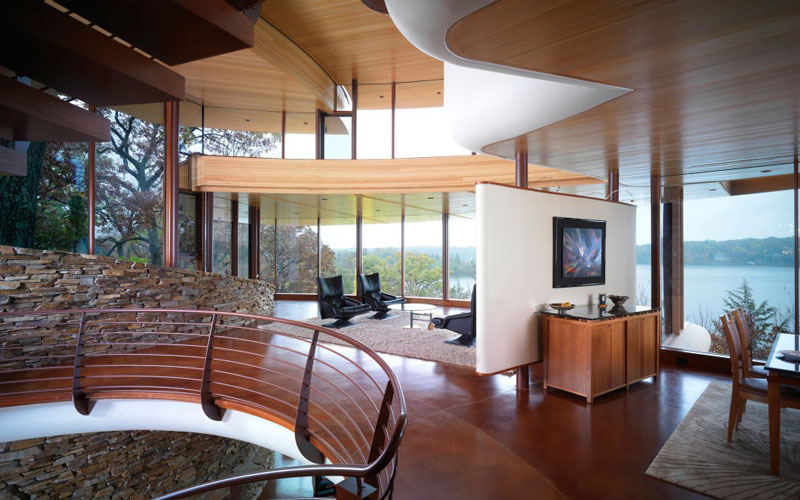 curvaceous chenequa residence by robert harvey oshatz 6 The Curvaceous Chenequa Residence by Robert Harvey Oshatz