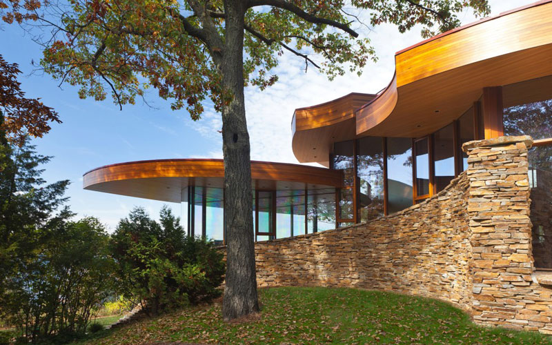 curvaceous chenequa residence by robert harvey oshatz 9 The Curvaceous Chenequa Residence by Robert Harvey Oshatz