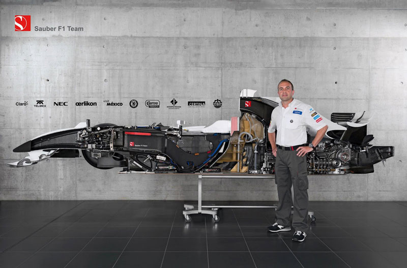cutaway sauber f1 car cut in half 15 Amazing Car Cutaways