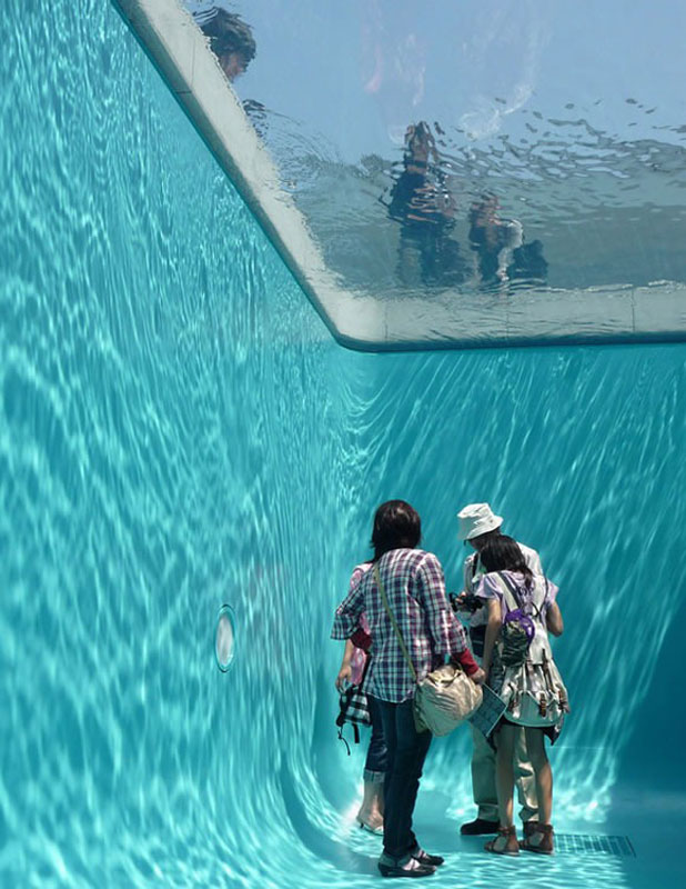 swimming pool. Delighful Swimming Fake Swimming Pool Illusion Leandro Erlich 6 The Swimming Pool Illusion By  Leandro Erlich Throughout I