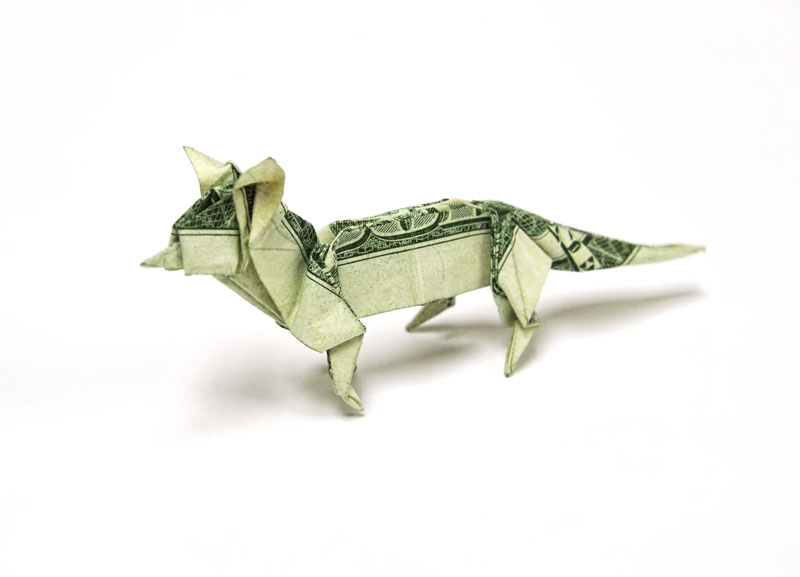 How to make an origami fish out of a dollar bill - Quora | 577x800