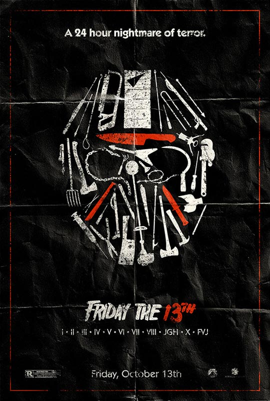 friday the 13th alternate movie poster by adam rabalais Creative Alternate Movie Posters by Adam Rabalais