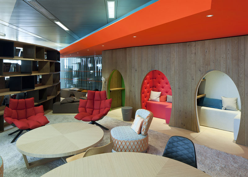 google london hq office by penson 17 Googles Funky Headquarters in London