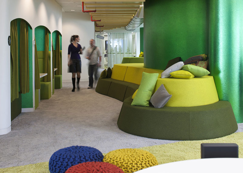 google london hq office by penson 18 Googles Funky Headquarters in London