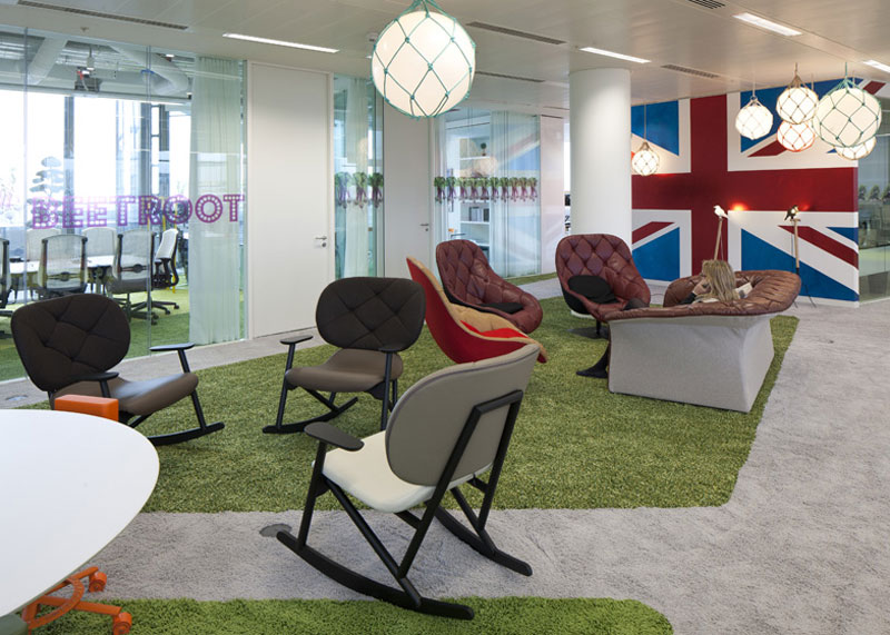 google london hq office by penson 19 Googles Funky Headquarters in London