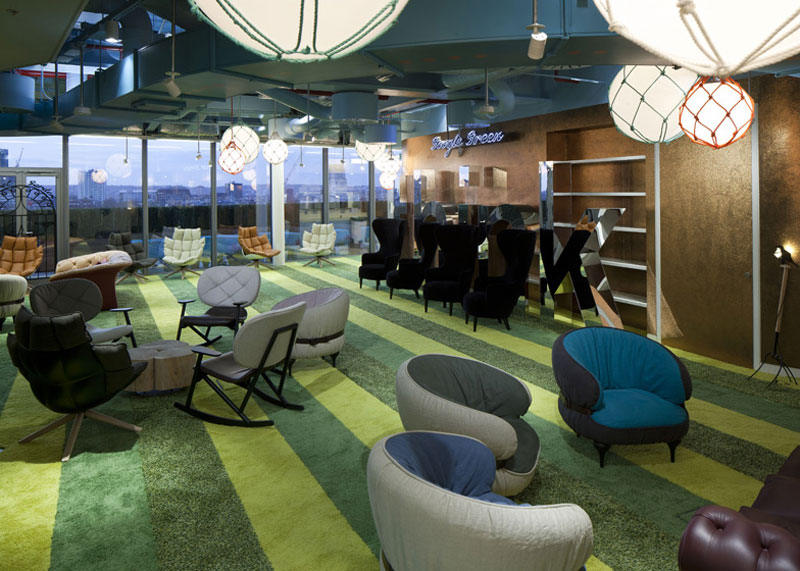 google london hq office by penson 20 Googles Funky Headquarters in London