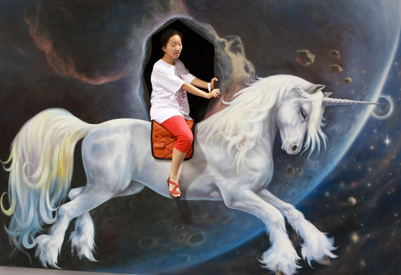 D Magic Art Exhibition China : The d art exhibit that lets you interact with artwork