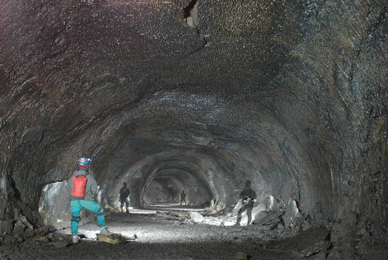lava tube at lava beds national monument california usa 12 Amazing Pictures of Lava Tubes Around the World