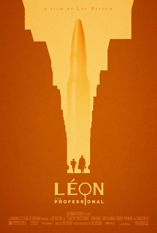 leon the professional alternate movie poster by adam rabalais Creative Alternate Movie Posters by Adam Rabalais