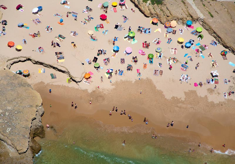 lisbon rocky beach aerial maison gray Beaches Around the World Seen from Above