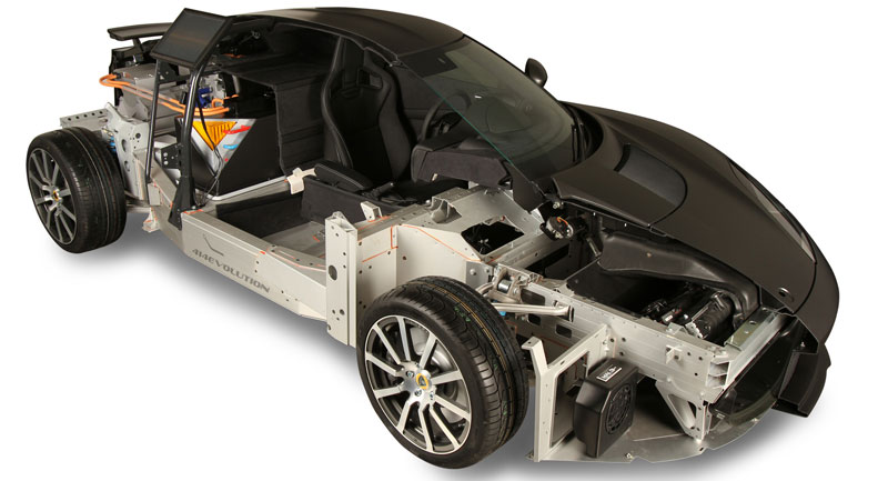 lotus cutaway hybrid evora 414evolution car cut in half Creative Cross Sections of Everyday Foods