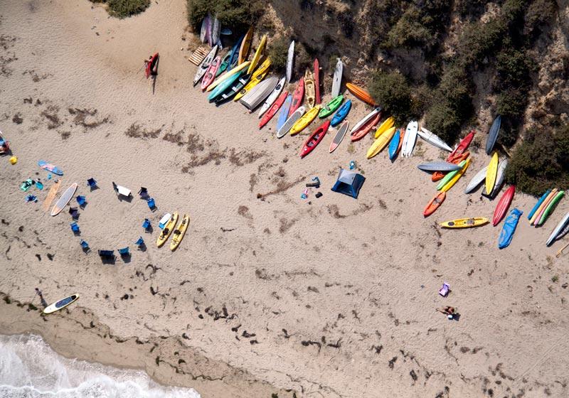 malibu kayaks aerial maison gray Beaches Around the World Seen from Above