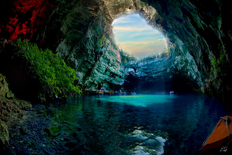 melissani cave kefalonia island greece 3 the breathtaking melissani cave in greece - Cool Pools With Caves