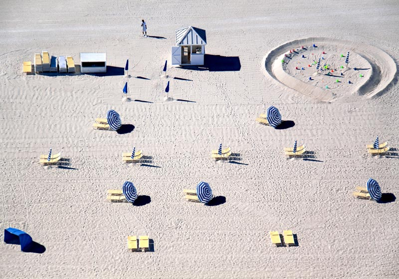 miami blue and yellow chairs aerial maison gray Beaches Around the World Seen from Above
