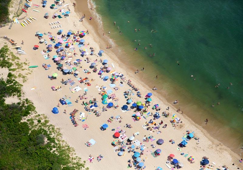montauk navy beach aerial maison gray Beaches Around the World Seen from Above