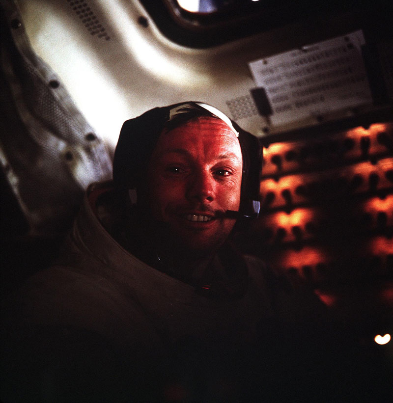 neil armstrong portrait in lunar module after historic moonwalk The Top 75 Pictures of the Day for 2012
