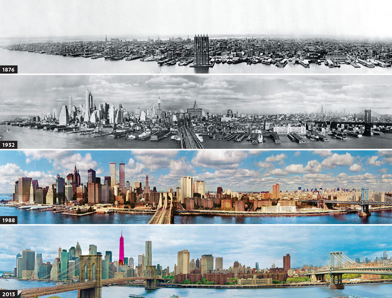 new york skyline evolution since 1876 The Top 75 Pictures of the Day for 2012