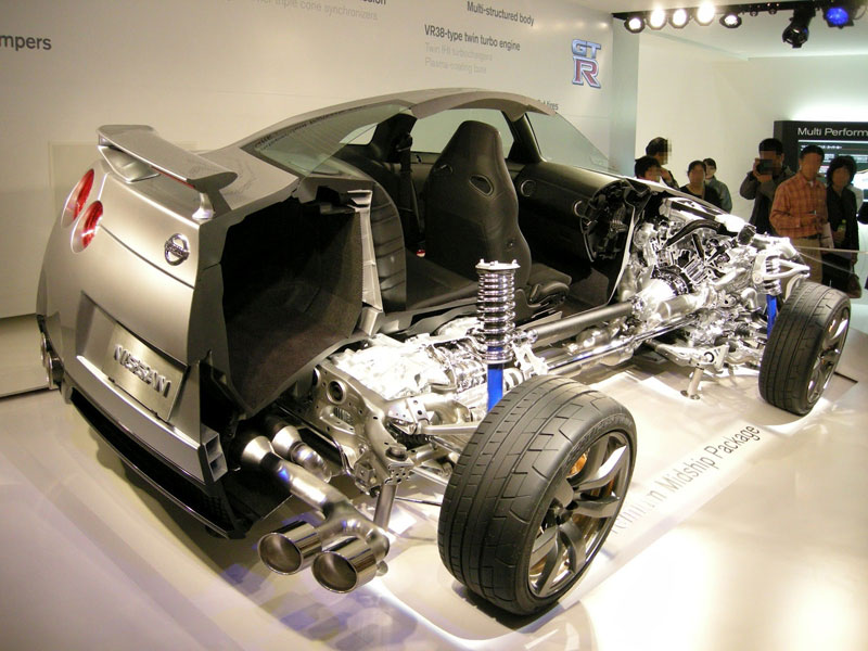 nissan gt r cutaway car cut in half 15 Amazing Car Cutaways