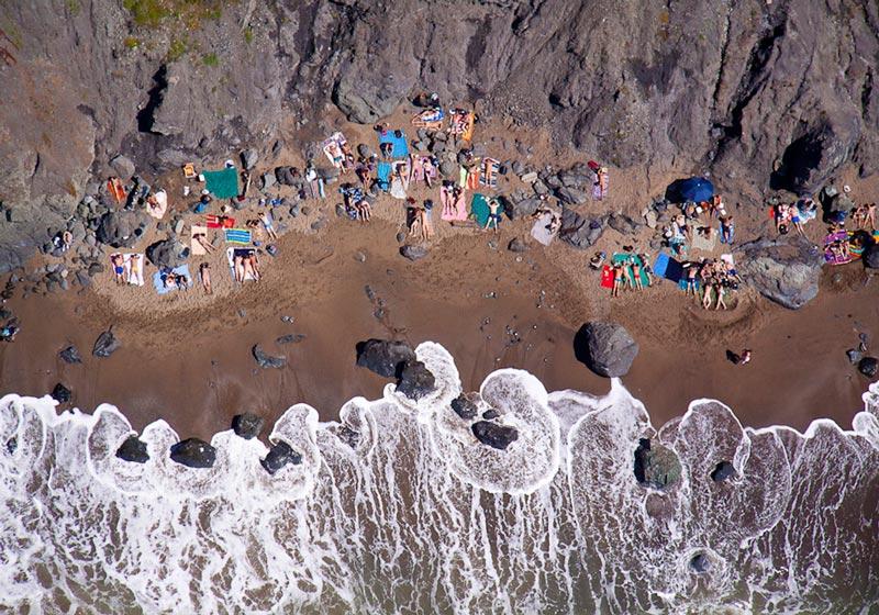 Nude Beach Aerial Maison Gray