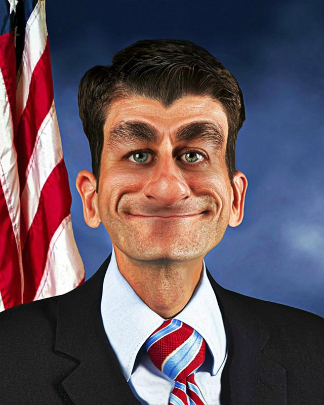 paul ryan funny photoshop cartoon Photoshop Fun with Paul Ryan [15 pics]