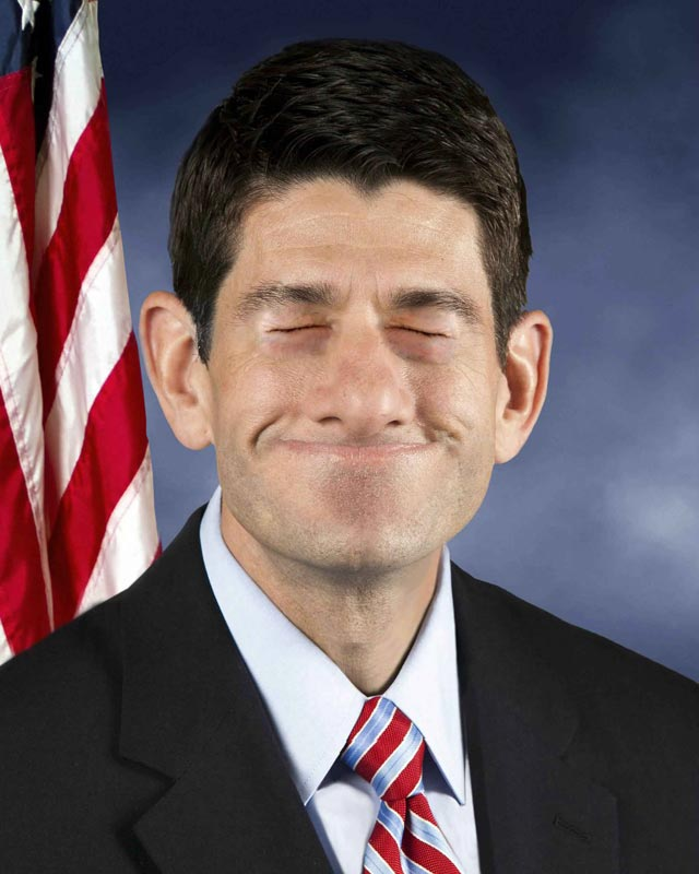 paul ryan photoshop eyes closed smiling Photoshop Fun with Paul Ryan [15 pics]