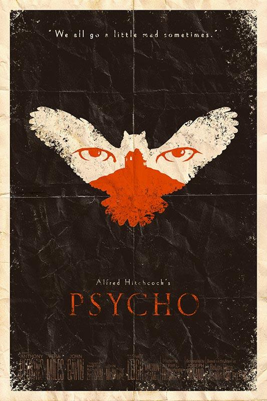 psycho alternate movie poster by adam rabalais Creative Alternate Movie Posters by Adam Rabalais