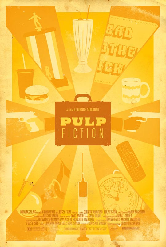 pulp fiction alternate movie poster by adam rabalais Creative Alternate Movie Posters by Adam Rabalais