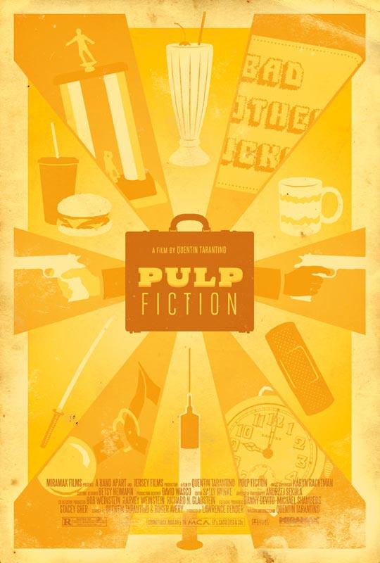 pulp fiction alternate movie poster by adam rabalais Creative Alternate Movie Posters by Adam Rabalais