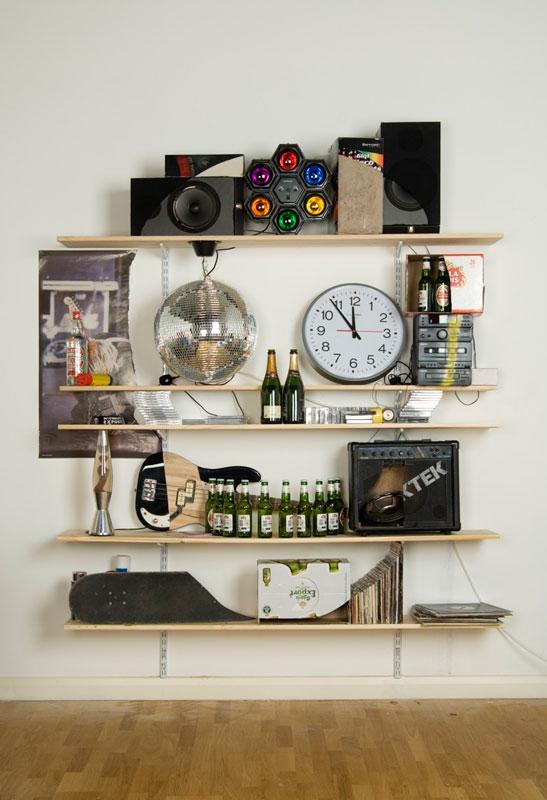 shelves that look like skulls james hopkins 1 Neatly Arranged Shelves That Look Like Skulls