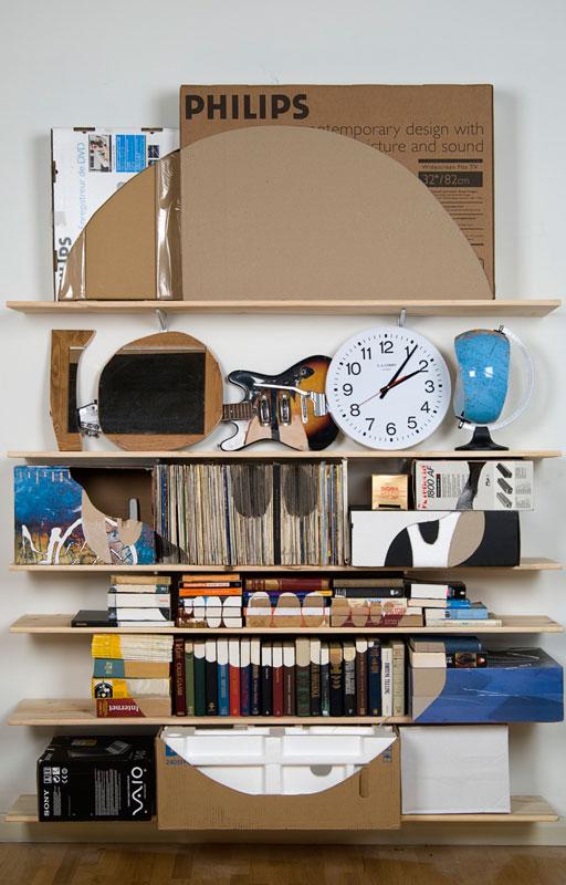 shelves that look like skulls james hopkins 2 Neatly Arranged Shelves That Look Like Skulls