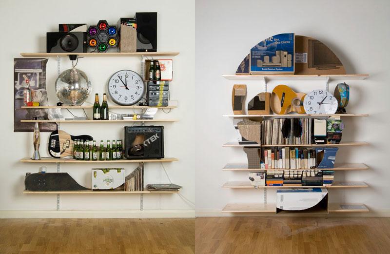 Neatly Arranged Shelves That Look LikeSkulls