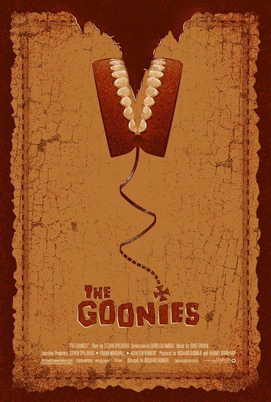 the goonies alternate movie poster by adam rabalais Creative Alternate Movie Posters by Adam Rabalais