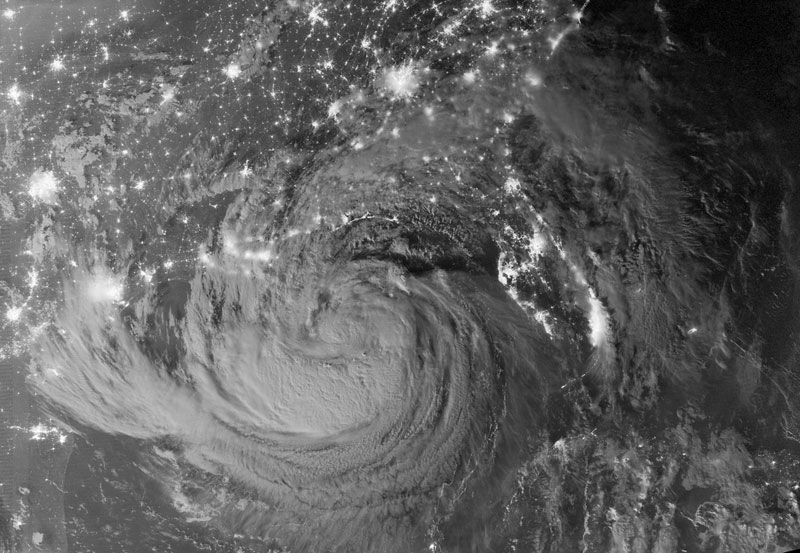 tropical storm isaac at night from space Picture of the Day: Tropical Storm Isaac from Space at Night