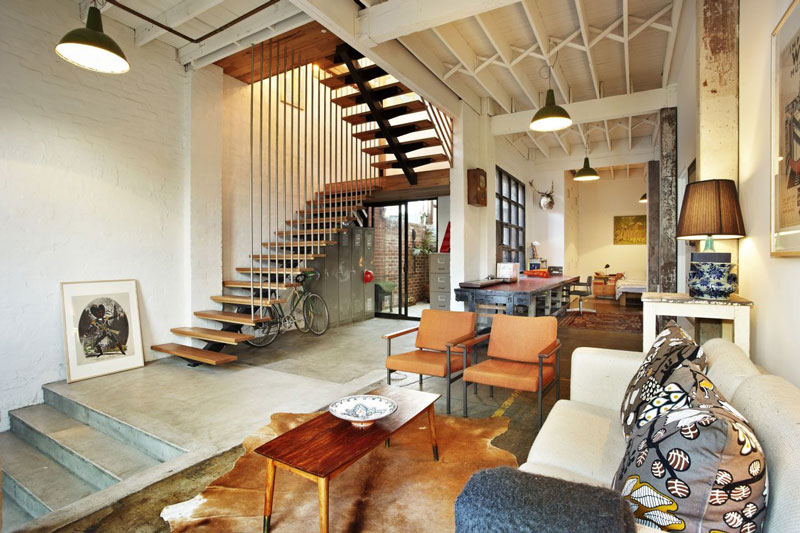 Cool Loft Apartment amazing warehouse apartments conversion in melbourne «twistedsifter