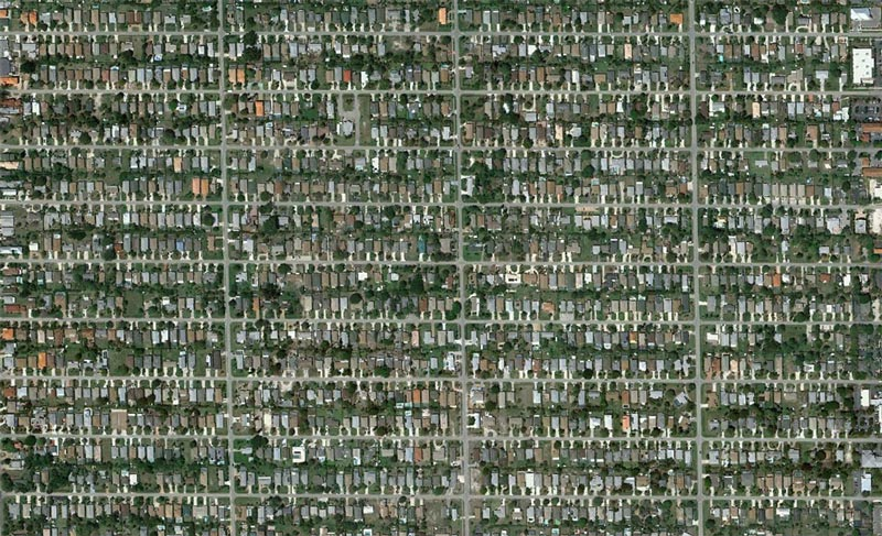 aerial patterns of human housing developments on google maps 19 Patterns of Human Development Found on Google Maps