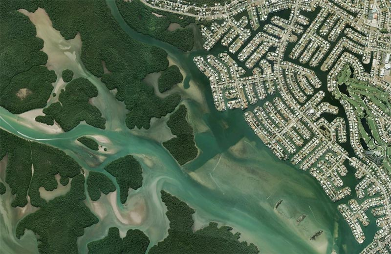 aerial patterns of human housing developments on google maps 20 Patterns of Human Development Found on Google Maps