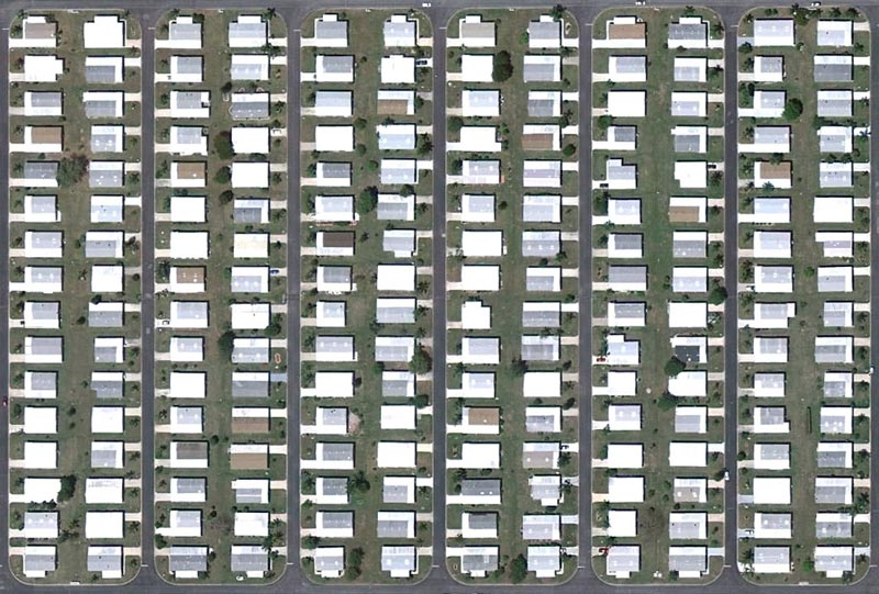 aerial patterns of human housing developments on google maps 5 Patterns of Human Development Found on Google Maps