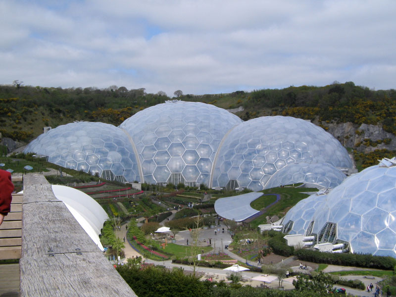eden project biomes greenhouse cornwall uk The Largest Greenhouse in the World