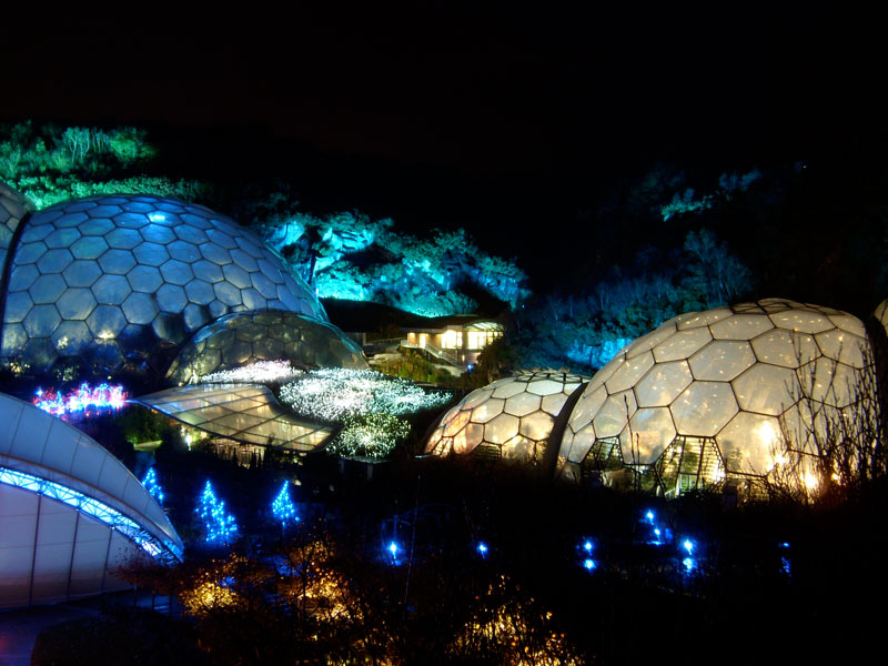 eden project winter worlds largest greenhouse biomes bruce munro field of light The Largest Greenhouse in the World