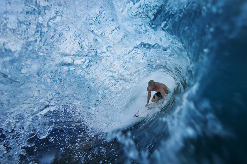 entering the barrel of a wave Picture of the Day: Barrel Fever