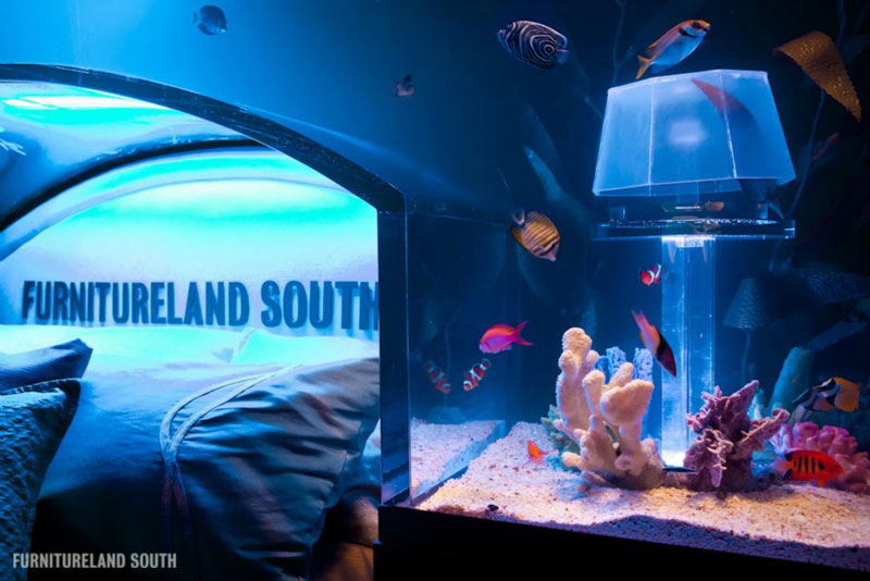 cool custom fish tank headboard for your bed «twistedsifter, Headboard designs