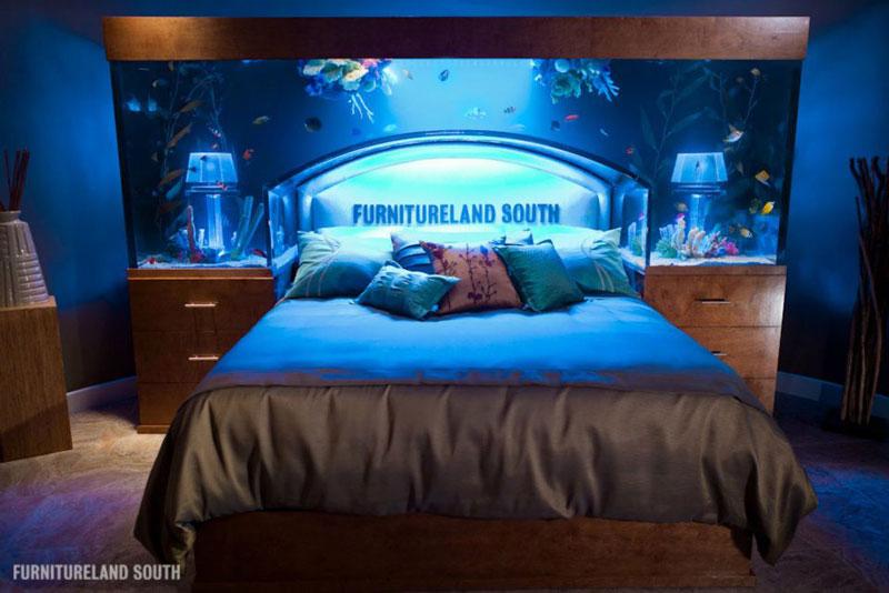 Fish Tank Headboard Above Bed Furnitureland South 6 Cool Custom Fish Tank  Headboard For Your Bed