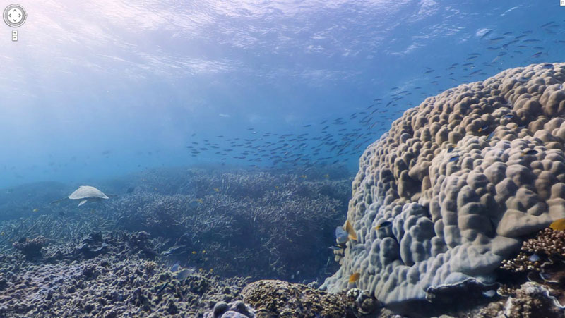 google maps street view heron island great barrier reef Google Adds First Underwater Panoramas to Maps and Street View