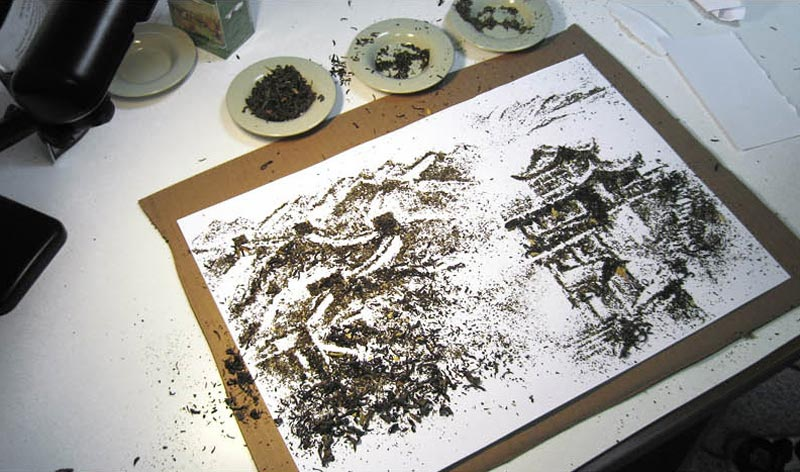 landscapes made from dried tea leaves show teas origin andrew gorkovenko 10 Beautiful Landscapes Made from Dried Tea Leaves
