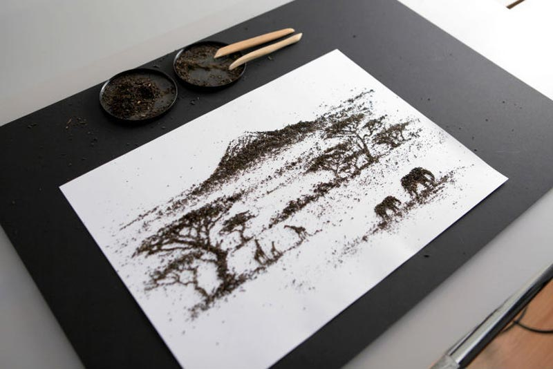 landscapes made from dried tea leaves show teas origin andrew gorkovenko 3 Beautiful Landscapes Made from Dried Tea Leaves