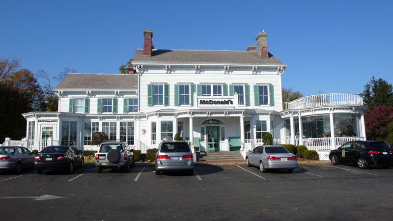 mcdonalds in white colonial mansion new hyde park new york usa The Most Unusual McDonalds Locations in the World