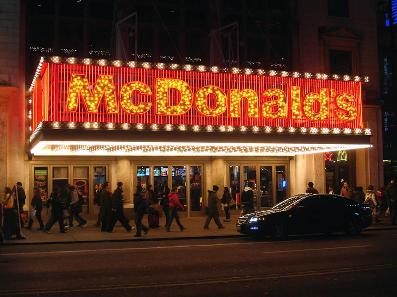 mcdonalds time square new york city location The Most Unusual McDonalds Locations in the World