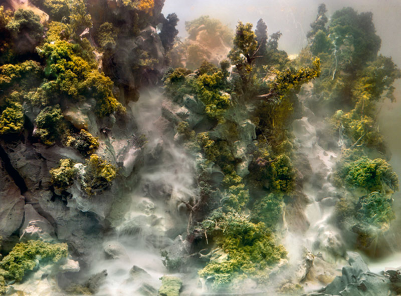 mini landscapes inside a tank that looks like paintings kim keever 8 Amazing Model Landscapes That Look Like Paintings